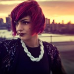 French singer Cocovan on a Brooklyn rooftop - NY 2013