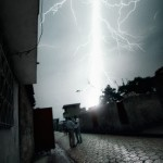 Lightning strikes while waiting for electricity - Cité Soleil, Haiti 2008