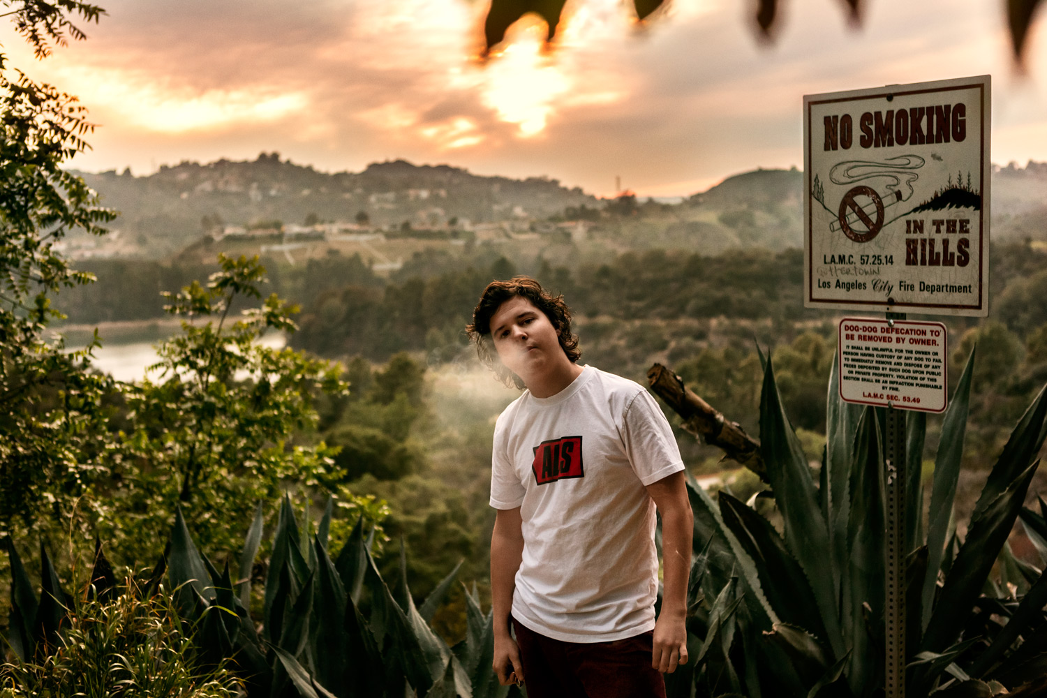 Danish Born singer Lukas Graham is a rebel in the Hollywood Hills - Los Angeles, 2014