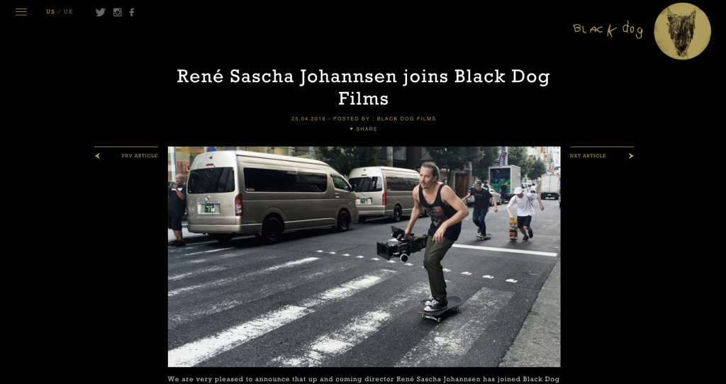 René Sascha Johannsen joins Black Dog
